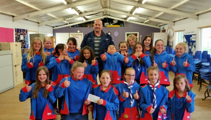 Support to local girl guides