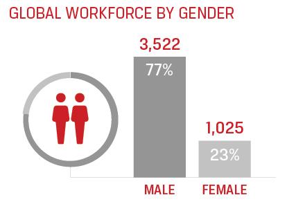 workforce by gender